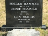 Lions Bush Farm Cemetery grave Holger and Jessie Hammar and Elin Morris
