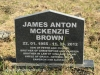 Lions Bush Farm Cemetery grave James Anton Mckenzie