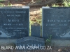 Geluksburg Cemetery Graves - Albert and Anna Venter