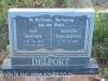 Geluksburg Cemetery Graves - Jan and Martha Delport)
