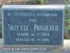 Geluksburg Cemetery Graves - Suzette Potgieter 1996