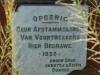 Wasbank - Uithoek - Karel Landman graveyard entrance plaque