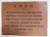 Durban-Glenwood-St-Martins-Home-Plaque-1997-Bishop-Michael-