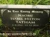 Hilton family grave Naomi Isabel Hilton Tatham 2014