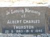Himeville Cemetery - grave Albert Thurston