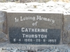 Himeville Cemetery - grave  Catherine Thurston