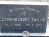 Himeville Cemetery - grave Edward Yaylor)