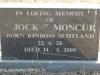 Himeville Cemetery - grave  Jock Moncur