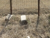 Himeville Cemetery - grave broken