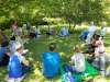 Ixopo Buddhist Retreat - Group lecture in gardens