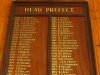 Ixopo High School  Honours Boards Head Prefects. (2)