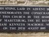 Ixopo - St Johns Anglican Church - Church  foundation stone 1884
