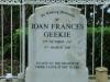 Benvie -  grave Joan Geekie 2010