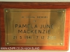 Karkloof St Marks Church plaque Pamela Mackenzie