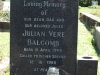 Kearsney Manor - Graveyard - grave -  Julian Balcolm 1988