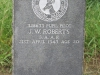 Ladysmith Garden of Remembrance Grave 328633 Pupil Pilot JW Roberts SAAF 1943