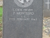 Ladysmith Garden of Remembrance Grave C 13836 Pvt P Monteiro CC 1943