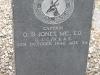 Ladysmith Garden of Remembrance Grave Captain OB Jones M.C. 1946