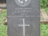 Ladysmith Garden of Remembrance Grave  M11780 Pvt CS Vincent IMC 1942