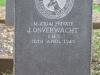 Ladysmith Garden of Remembrance Grave Private J Onverwacht IMC 1943