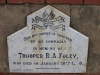 Ladysmith - Intombi Camp Cemetery - Grave - Trooper RA Foley - ILH 1900