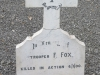 Ladysmith Garden of Remembrance Grave  Trooper F Fox Border Mounted Rifles 1900