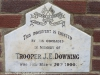 Ladysmith Garden of Remembrance Grave  Trooper J Downing ILH 1900