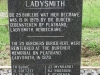 Ladysmith Garden of Remembrance Grave names of 29 re-interred Burghers. (1)