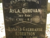 Lidgetton St Mathews Church Cemetery Grave  Ayla Donovan & Ronald Robinson