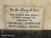 Lidgetton St Mathews Church Plaque