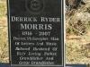 Lions Bush Farm Cemetery grave Derrick Morris 2007