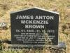 Lions Bush Farm Cemetery grave James Anton Mckenzie