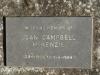 Lions Bush Farm Cemetery grave Jean Campbell McKenzie 1984