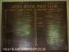 Lions River Polo Club Honours Board