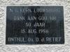 Louwsburg - N.G. Kerk - Plaque 50th Year 1986 - DJ Retief (1)