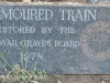 Ladysmith - Settlers Road  - Toll House Armoured train restoration plaque