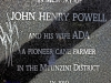 Mtunzini Cemetery - Grave - John Powell & wife Ada - Pioneer cane farmer