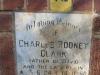 Mtunzini Cemetery - Grave - Plaque Charles Rodney Clark - Chairman 1st Town Board -1980
