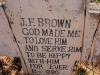Oliviers Hoek Farm graves JF Brown 1880 to 1918. (1.) (1)
