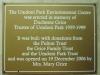 Umdoni Park Environmental Centre - Duchesne Grice opening plaque