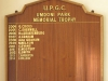 Umdoni Park Golf Course -  Honours Board - Memorial Trophy
