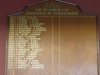 Umdoni Park Golf Course -  Honours Board - Selborne Cup - presented by Denis Barker
