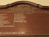 PMB - Allan Wilson Moth Hall - Roll of Honour 1939 - 1945