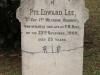 Fort Napier Cemetery Pvt Edward Lee 1909