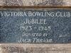 PMB - Victoria Bowling Club - Prince Elizabeth Drive - Plaque - Jack Thrash - Jubilee - 1923 to 1948