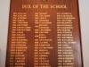 Merchiston Prep -  Honours Boards - Dux (2)