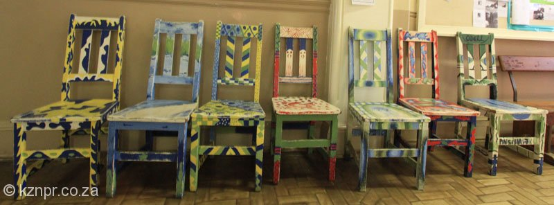 Russell High School Decorated Chairs 2