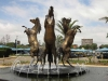 Scottsville Racecourse -  Horse Fountain - Surrey Road - Golden Horse statues (3)