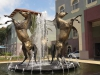 Scottsville Racecourse -  Horse Fountain - Surrey Road - Golden Horse statues (4)