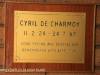 St Charles College Chapel plaques Cyril De Charmoy